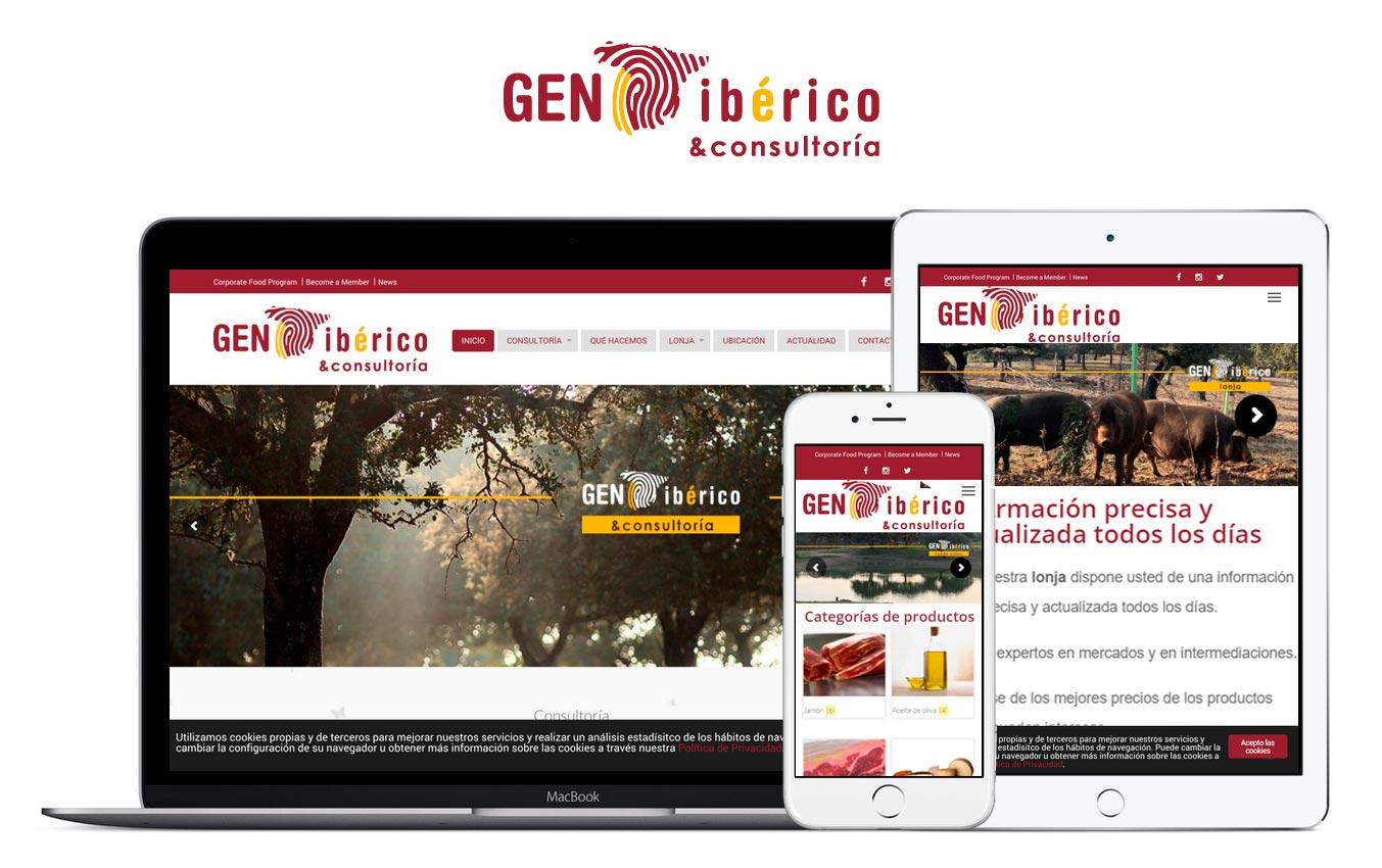 Web de Gen Ibérico en distintos dispositivos